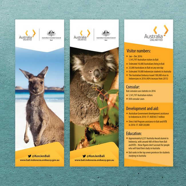 Australian General Consulate Bookmark Design and Printing